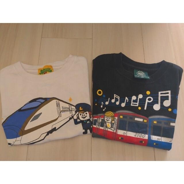 LAUNDRY(ランドリー)の電車Tシャツ4枚セット キッズ/ベビー/マタニティのキッズ服男の子用(90cm~)(Tシャツ/カットソー)の商品写真