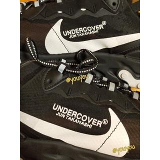 アンダーカバー(UNDERCOVER)の【レア色】 U ✕ NIKE REACT ELEMENT 黒✕白ロゴ 27.5(スニーカー)
