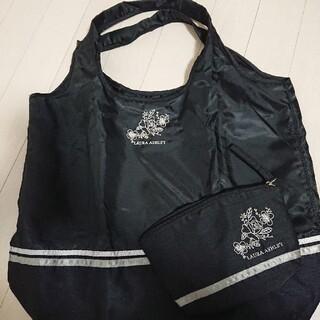 ローラアシュレイ(LAURA ASHLEY)の新品☆ローラアシュレイ エコバッグ 刺繍 黒 Lサイズ(エコバッグ)