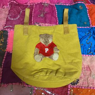 ピンクハウス(PINK HOUSE)のPINKHOUSE ピンクハウス クマ 黄色 バッグ(トートバッグ)