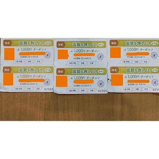 今こそ滋賀を旅しよう!第4弾  しが周遊クーポン  計6000円分(その他)