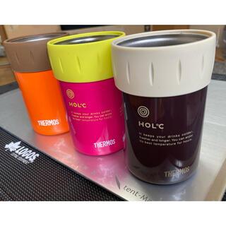 サーモス(THERMOS)のTHERMOS サーモス 保冷缶ホルダー 廃番希少モデル2色セット美品+オマケ(食器)