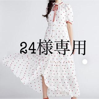 ダブルスタンダードクロージング(DOUBLE STANDARD CLOTHING)のDOUBLE STANDARD ダブスタ ハート ワンピース 新品 (ロングワンピース/マキシワンピース)
