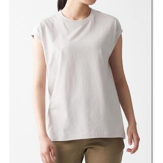 MUJI (無印良品) - 無印良品 ノースリーブ Tシャツ グレージュ S