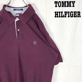 トミーヒルフィガー(TOMMY HILFIGER)のトミーヒルフィガー 鹿の子 半袖ポロシャツ オーバーサイズ 刺繍ワンポイントロゴ(ポロシャツ)