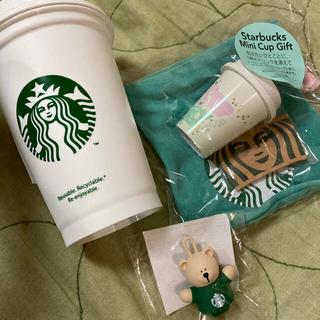 Starbucks Coffee - スターバックス スタバ ミニカップギフト ドリンクホールキャップベアリスタ