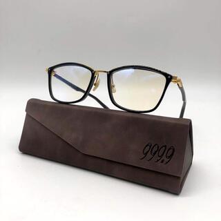 フォーナインズ(999.9)のフォーナインズ 999.9 M-100 メガネフレーム  黒金(サングラス/メガネ)