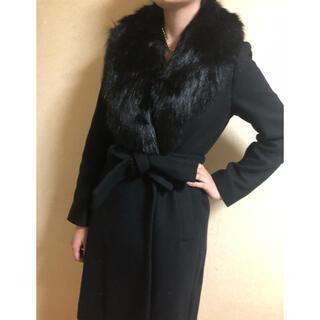 ザラ(ZARA)のZARA コート 黒色 冬 ファー付き 新品 未使用品 ファーコート(毛皮/ファーコート)