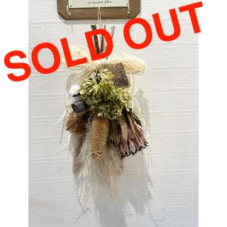 ドライフラワースワッグ ウエディングブーケ 紫陽花 花束 玄関インテリア ギフト(ドライフラワー)