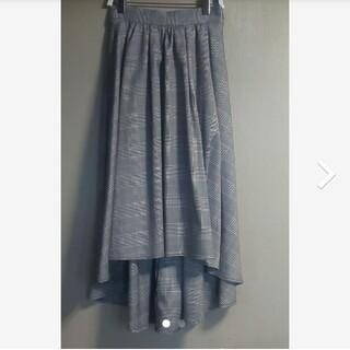 ワンウェイ(one*way)のワンウェイ Oneway リボン付き スカート グレンチェックスカート(ひざ丈スカート)