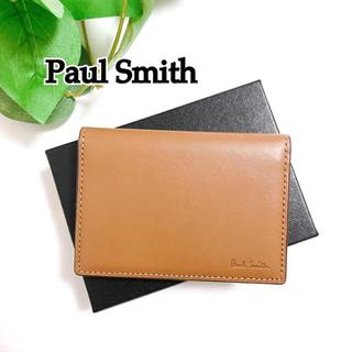 Paul Smith - ☆値下げしました☆新品 美品 ポールスミス 定期入れ レザー 薄型 二つ折り