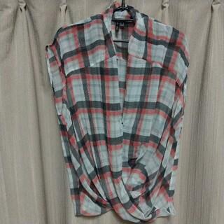マンゴ(MANGO)のマンゴー チェック ブラウス(シャツ/ブラウス(半袖/袖なし))