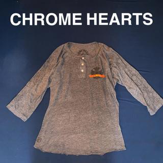 クロムハーツ(Chrome Hearts)のクロムハーツ★ロゴ クロス ヘンリーネックカットソー(Tシャツ(長袖/七分))