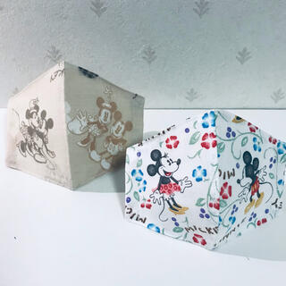 ミッキー&ミニーインナーマスク☆キッズ2枚セット‼︎small size(外出用品)