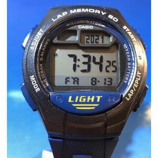 CASIO - T21071 腕時計 特美品 CASIO カシオ W-734 電池交換 稼働