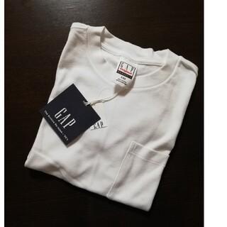 ギャップ(GAP)のGAP クルーネック ポケット 半袖 Tシャツ 白 ホワイト 白T XS S(Tシャツ(半袖/袖なし))