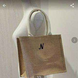 ムジルシリョウヒン(MUJI (無印良品))のジュートバッグ イニシャル刺繍(トートバッグ)