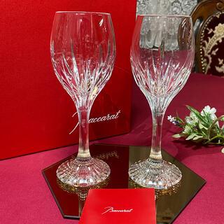 Baccarat - バカラ ジュピター ペアワイングラス 未使用美品 箱付き