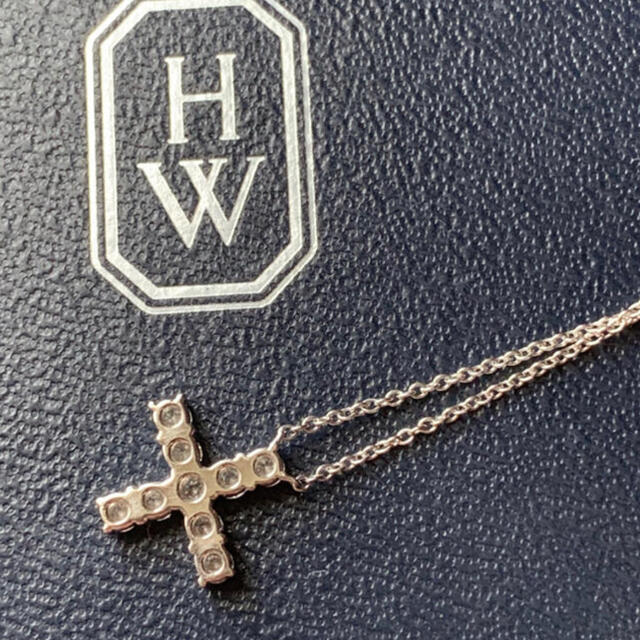 HARRY WINSTON(ハリーウィンストン)のharry winston ハリーウィンストン ミニ クロスダイヤネックレス レディースのアクセサリー(ネックレス)の商品写真