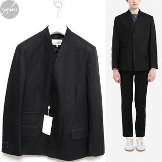 マルタンマルジェラ(Maison Martin Margiela)の48 新品 メゾンマルジェラ カラーレス ブレザー 黒 ノーカラー ジャケット(ノーカラージャケット)