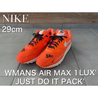 ナイキ(NIKE)の最終値下希少 NIKE WMNS AIR MAX 1 LX JUST DO IT(スニーカー)