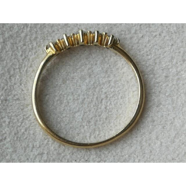 AHKAH(アーカー)の最終価格 アーカー メイピンキーリング 5号 K18YG  0.07ct レディースのアクセサリー(リング(指輪))の商品写真