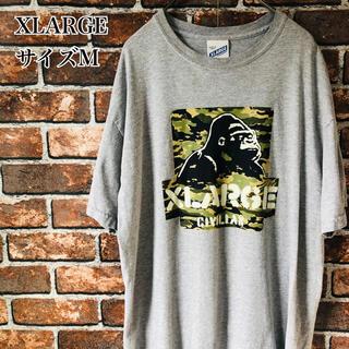 XLARGE - 【希少】XLARGE エクストララージ tシャツ M グレーデカロゴ