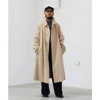 コモリ(COMOLI)のエルイー LE バルカラーコート レショップ ステンカラー ベージュ 2 1枚袖(ステンカラーコート)