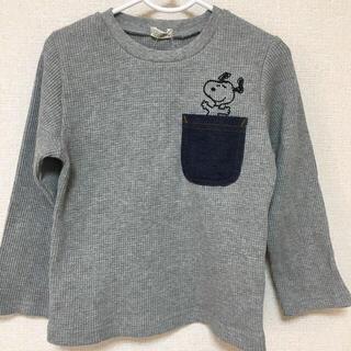 スヌーピー(SNOOPY)の完売品 レア スヌーピー ❤️  ワッフル ロングTシャツ ロンT 90(Tシャツ/カットソー)