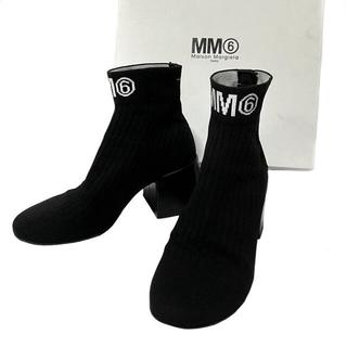 エムエムシックス(MM6)のMM6 Maison Margiela マルジェラ フレアーヒールソックスブーツ(ブーツ)