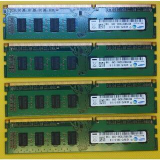 SAMSUNG - デスクトップ用メモリ4枚計16GB  4GB 2Rx8 PC3 10600U