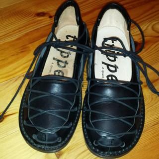 トリッペン(trippen)のtrippenブラックレースアップ(ローファー/革靴)