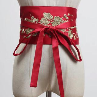 KEITA MARUYAMA TOKYO PARIS - 刺繍サッシュベルト レッド 新品未使用