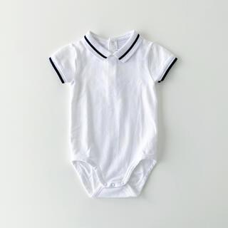 ジャカディ(Jacadi)の未使用 jacadi 襟付き 半袖ロンパース  18m 70(ロンパース)