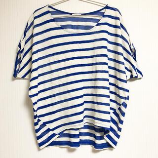 ジーユー(GU)のGU ジーユー 半袖 Tシャツ ボーダー ストライプ シャツ(Tシャツ(半袖/袖なし))