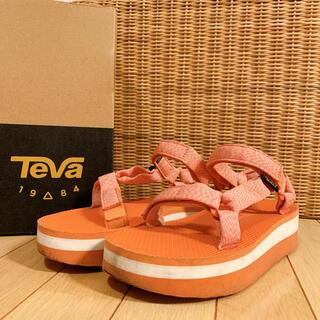 テバ(Teva)のTEVA テバ サンダル 厚底 フラットフォーム アプリコット 希少(サンダル)