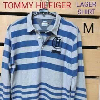 トミーヒルフィガー(TOMMY HILFIGER)のTOMMY HILFIGER ラガーシャツ ポロシャツ 長袖 size.M(ポロシャツ)