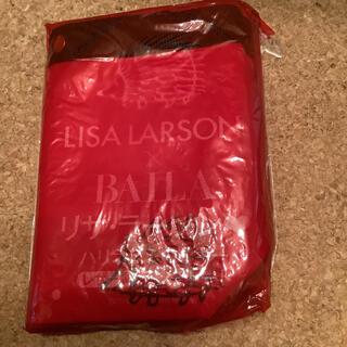 リサラーソン(Lisa Larson)のリサ・ラーソン レザー調ランチトート 付録 未使用 ハリネズミのイギー 赤(トートバッグ)