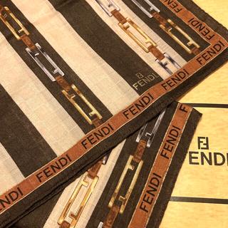 FENDI - 専用 フェンディ ハンカチスカーフ ズッカ チェーン brown border