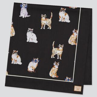 ユニクロ(UNIQLO)の【タグ付き新品未使用】 ユニクロ  ポール&ジョー猫スカーフ♡(バンダナ/スカーフ)