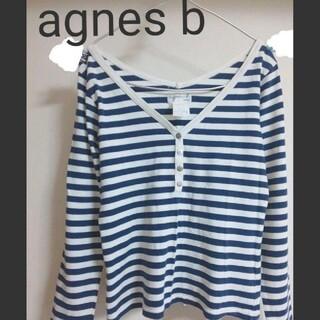 アニエスベー(agnes b.)のアニエスベー ボーダー 綿カットソー 長袖Tシャツ 2 M(カットソー(長袖/七分))