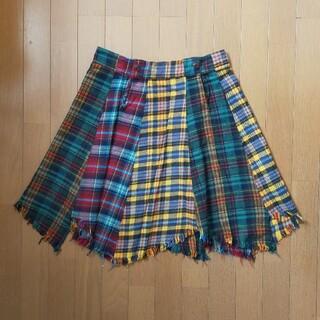 rough - lough カラフル チェック スカート