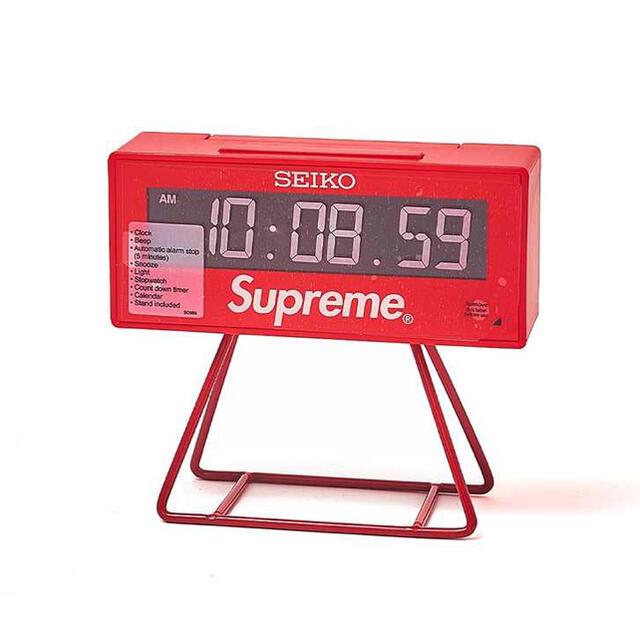 "Supreme(シュプリーム)のSupreme / Seiko Marathon Clock ""Red"" インテリア/住まい/日用品のインテリア小物(置時計)の商品写真"