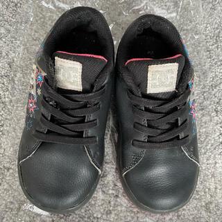 ディーシーシューズ(DC SHOES)のDCSHOESディーシーシューズ靴スニーカー15.5cm16cm黒フェイクレザー(スニーカー)