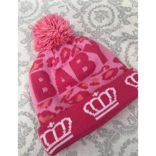 ベビードール(BABYDOLL)のベビー キッズ ニット帽 baby doll ベビードール ピンク(帽子)