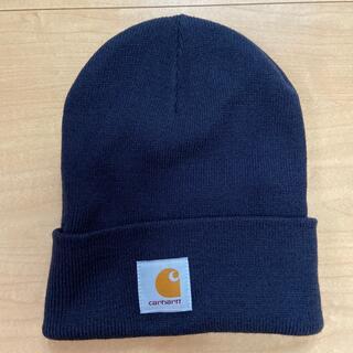 カーハート(carhartt)のcarhartt  ニット帽 ネイビー(ニット帽/ビーニー)
