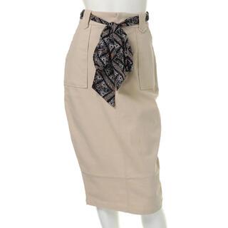リップサービス(LIP SERVICE)のLIPSERVICE スカーフベルト付きラインスカート(ひざ丈スカート)