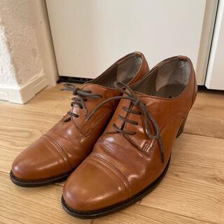 アダムエロぺ(Adam et Rope')のレースアップシューズ キャメル 革靴 23.5(ローファー/革靴)