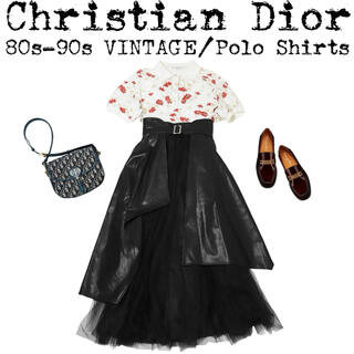 クリスチャンディオール(Christian Dior)の美品★Christian Dior★ディオール★VINTAGE★花柄 ポロシャツ(ポロシャツ)