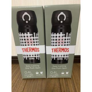 サーモス(THERMOS)の最安値 サーモス水筒 真空断熱ケータイマグ400ml ブラックギンガム(水筒)